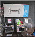 SO3700 : Co-op social distancing banner, Usk by Jaggery