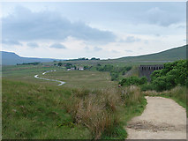 SD7579 : A view back on the path to Whernside by John Lucas
