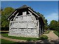 SO9568 : Avoncroft Museum - cruck-frame barn by Chris Allen