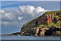 NT9955 : Cliffs near Needles Eye by Walter Baxter