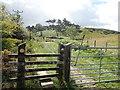 SJ1269 : Gate and stile by Eirian Evans