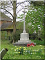 TM3780 : Spexhall War Memorial in St. Peter's churchyard by Adrian S Pye