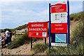 C9342 : Information panels, Runkerry Beach by Kenneth  Allen