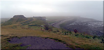 NU1341 : View east from outside Lindisfarne Castle by habiloid