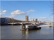 TQ3078 : Fire Brigade Pier and Lambeth Bridge by Robin Sones