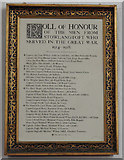 TL9568 : Stowlangtoft Roll Of Honour by Adrian S Pye