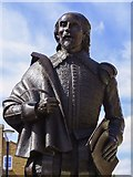 SP2055 : A statue of William Shakespeare on Henley Street by Steve Daniels