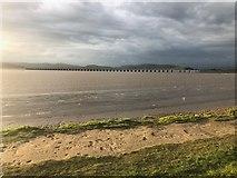 SD4578 : River Kent Estuary, Arnside by Philip Cornwall