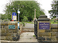 SE2931 : Pedestrian entrance to Holbeck cemetery by Stephen Craven