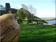 NT9953 : Berwick Castle remains by Brian Morris