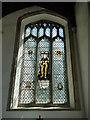TM0890 : New Buckenham WW2 Memorial Window by Adrian S Pye