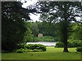 SK6274 : View over Clumber Lake to the Doric Temple by Graham Hogg