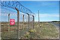 TR0719 : Fencing round the Railhead by Des Blenkinsopp
