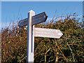 SD1965 : England Coast Path Sign, Walney Island by David Dixon