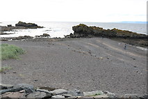 NS2515 : Rocks and Sand at Dunure by Billy McCrorie