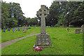 TG2904 : Bramerton War Memorial in the churchyard by Adrian S Pye