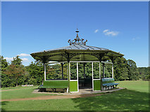 SE3338 : Shelter near the upper lake, Roundhay Park by Stephen Craven