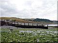 SN4764 : Groynes at Aberarth by John Lucas