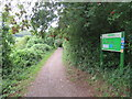 ST4254 : Strawberry Line path near Axbridge by Malc McDonald