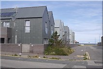 NJ9967 : Metal clad houses, Quarry Road Fraserburgh by Richard Webb
