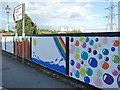 SE2535 : New artwork on Kirkstall railway bridge (2) by Stephen Craven