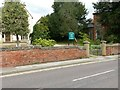 SK7053 : Boundary wall at Sacrista Prebend, Westgate, Southwell by Alan Murray-Rust