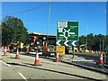 SH8077 : Major roadworks at Black Cat roundabout by Richard Hoare