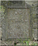 SO8104 : Old milestone plate, Ebly Rd by Mr Red