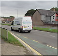 ST3091 : South Wales Sports Grounds white van, Malpas Road, Newport by Jaggery