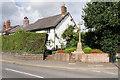 SJ7578 : Over Knutsford War Memorial by David Dixon