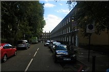 TQ3581 : View up Albert Gardens from Commercial Road by Robert Lamb