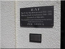 SN1300 : Plaque on a building in Tenby harbour by Jeremy Bolwell