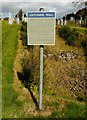 NS5572 : Sign beside the Antonine Wall by Richard Sutcliffe
