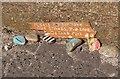 NT4175 : Painted stones, Seton Sands by Jim Barton