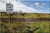 NT9955 : A pedestrian crossing on the East Coast Railway Line by Walter Baxter