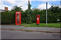 SK5027 : Postbox and telephone kiosk on Kegworth Road by Ian S