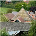 SK6754 : Roofscape at Halam by Alan Murray-Rust