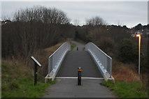 SY6778 : Bridge over Newstead Rd, Rodwell Trail by N Chadwick