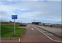 NK0066 : Contraflow cycle lane, sea front, Fraserburgh by JThomas