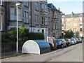 NT2470 : Cyclehoop residential cycle storage by M J Richardson