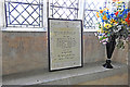 TF8521 : The War Memorial in Weasenham All Saints church by Adrian S Pye