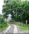 SE1328 : Footpath junction near Heathwood House, Shelf by Humphrey Bolton