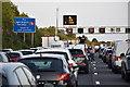 TL0720 : Motorway closure, M1 Luton by David Martin