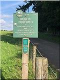 SJ9583 : Peak & Northern Footpath Sign No 301 by Philip Cornwall