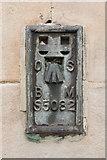 NO5402 : Flush Bracket Bench Mark, Pittenweem Church Hall by Mark Anderson