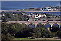 NT9953 : A train on the Royal Border Bridge at Berwick-upon-Tweed by Walter Baxter