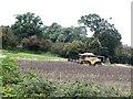 SO4134 : Combine harvester at Cockyard Farm by Oliver Dixon