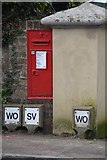 TQ5842 : Victorian Postbox, Park House Gardens by N Chadwick