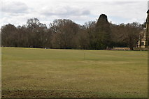 TQ5742 : Cricket pitch, Southborough Common by N Chadwick