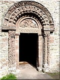 SO4430 : The elaborate arched doorway into Kilpeck Church by Oliver Dixon